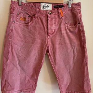 Superdry Men's Denim Shorts Size 33w